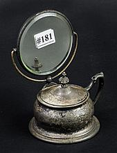 Great small Victorian shaving mirror & cup with