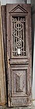 Pair of wood & metal doors-