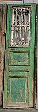 Pair of wood & metal doors