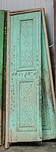 Pair of metal & wood doors