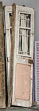 Pair of wooden & metal doors