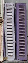 Four wooden shutters