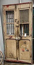 Wood & metal doors - approx 40 1/2