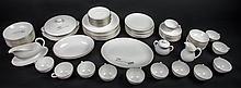White & silver Royal Doulton china- approx 91 pcs