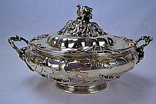 Belgian Coin Silver Entree Dish