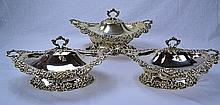 Redlich Sterling Silver Serving Dishes (Set of 3)