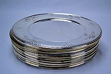 Meriden Brittania Sterling Silver Chargers (Set of 12)