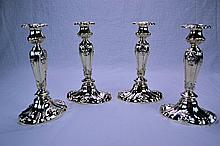 Gorham Sterling Silver Candlesticks (Set of 4) 1906
