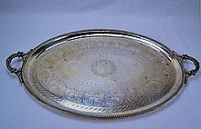 J.E.W & J. Barnard English Sterling Waiter Tray 1880