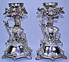 Austrian Sterling Figural Stag Centerpieces (Pair)
