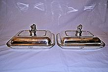 Robert Garrard English Sterling Covered Dishes 1804