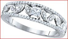 10KW 0.33CTW DIAMOND 0.15CT-CPR BRIDAL RING