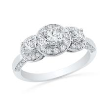14KW 0.75CTW DIAMOND 0.22CT-CRD BRIDAL RING