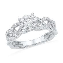 10KW 0.63CTW DIAMOND FASHION BRIDAL RING