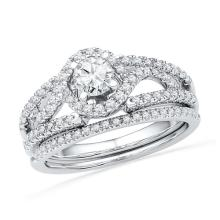 14KW 0.75CTW DIAMOND 0.35CT-CRD BRIDAL SET