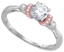 10KTT 0.66CTW DIAMOND 0.50CT-CRD BRIDAL RING