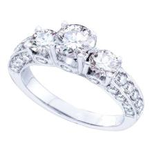 14KW 2.50CT DIAMOND BRIDAL SET