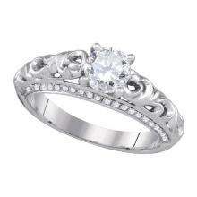 14KW 1.00CTW DIAMOND 0.75CTW-CRD BRIDAL RING
