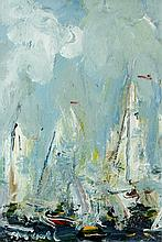 Marie Carroll - Sailing Ships off the Coast