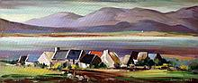 Kenneth Webb Landscape with Cottage Oil on Canvas