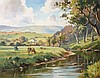 D McNaughton  River Scene  Oil on Board