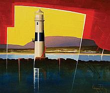 Verner Finlay Blackrock Lighthouse. Sligo Bay Oil