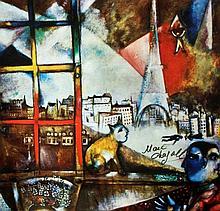 Marc Chagall  Paris Through the Window  Print