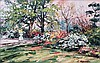 Cora Harrington Malone House Garden Spring Oil on