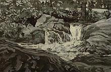 Patric Stevenson  Spring Pools  Watercolour