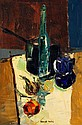 Kenneth Webb. Still Life with Wine Bottle. Oil on