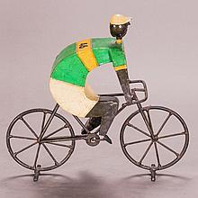 Luis Felguerez (b. 1935) Bicyclist, Papier-mâché and metal,