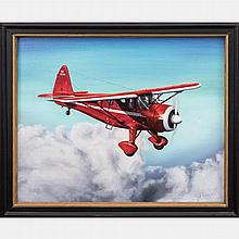 Albert J. Enckler (1921-2014) Howard DGA-11; Evolved from 'Mr. Mulligan' that Flew Races at the 'Cleveland International Air Races,' ca. 1930s, Acrylic on canvas,