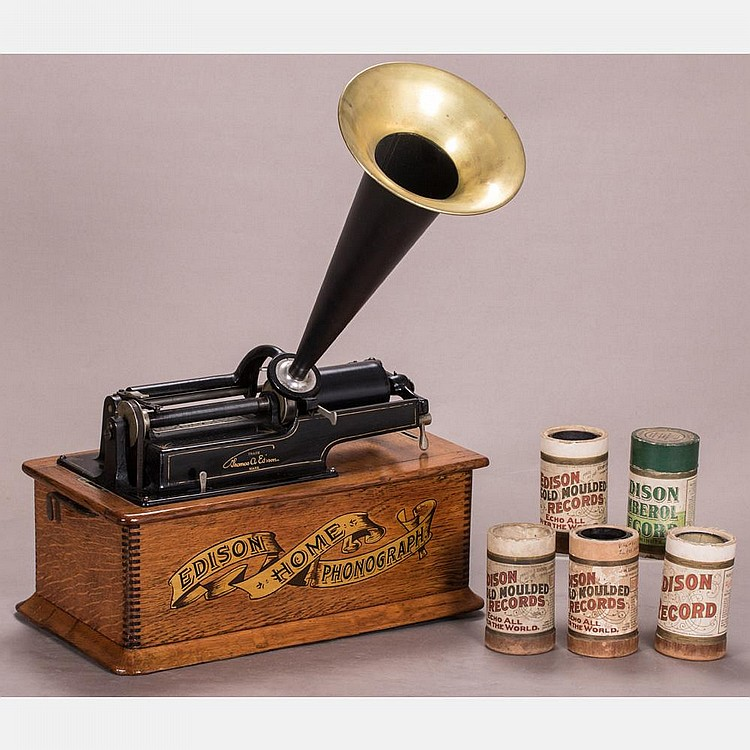 A thomas edison home model phonograph last patent 1900 for Edison home show