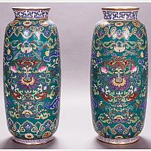 A Pair of Chinese Porcelain Vases, 20th Century.