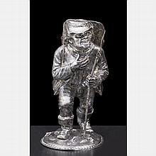 A Hanau Silver Peasant Figure, 19th Century,