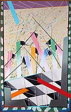 Judith Pittinger-Meyer (20th Century) Sproating, Acrylic on canvas.