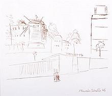 Maurice Utrillo (1883-1955) City Scene, Lithograph,