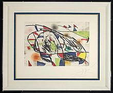 Joan Miró (1893-1983) Enrajolats I, Etching and aquatint in color,