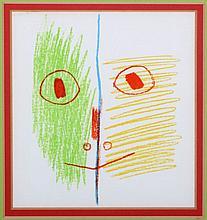 Pablo Picasso (1881-1973) Cara, Color lithograph,
