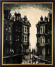 G. Pierre (20th Century) City Scene, Oil on canvas,