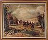 Artist Unknown (20th Century) Fox Hunt, Oil on canvas,