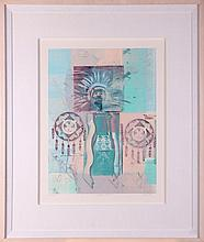 Richard Hall (London, 20th Century) Western Blend #3, Monoprint,