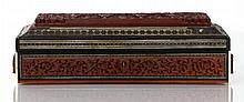 An Anglo-Indian Carved Sandalwood and Sadeli Document Box, 19th Century.