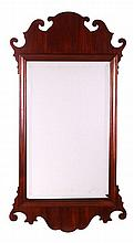 A Chippendale Style Mahogany Mirror, 20th Century.