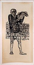Leonard Baskin (1922-2000) Man of Peace, Woodcut,