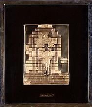 Salvador Dali (Spanish, 1904-1989) Lincoln in Dalivision, Solid 18kt gold bas relief,