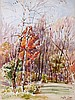 Leslie Cope (1913-2002) October, Putnam Hill Park, Zanesville, Ohio, Watercolor on paper,