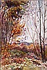 Leslie Cope (1913-2002) Muskingum Co. Woodland, Zanesville, Ohio, Watercolor on paper,