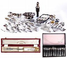 A Miscellaneous Collection of Silver and Silver Plated Decorative Items, 20th Century.