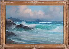 Alexander Dzigurski, Sr. (1911-1995) Seascape, Oil on canvas,